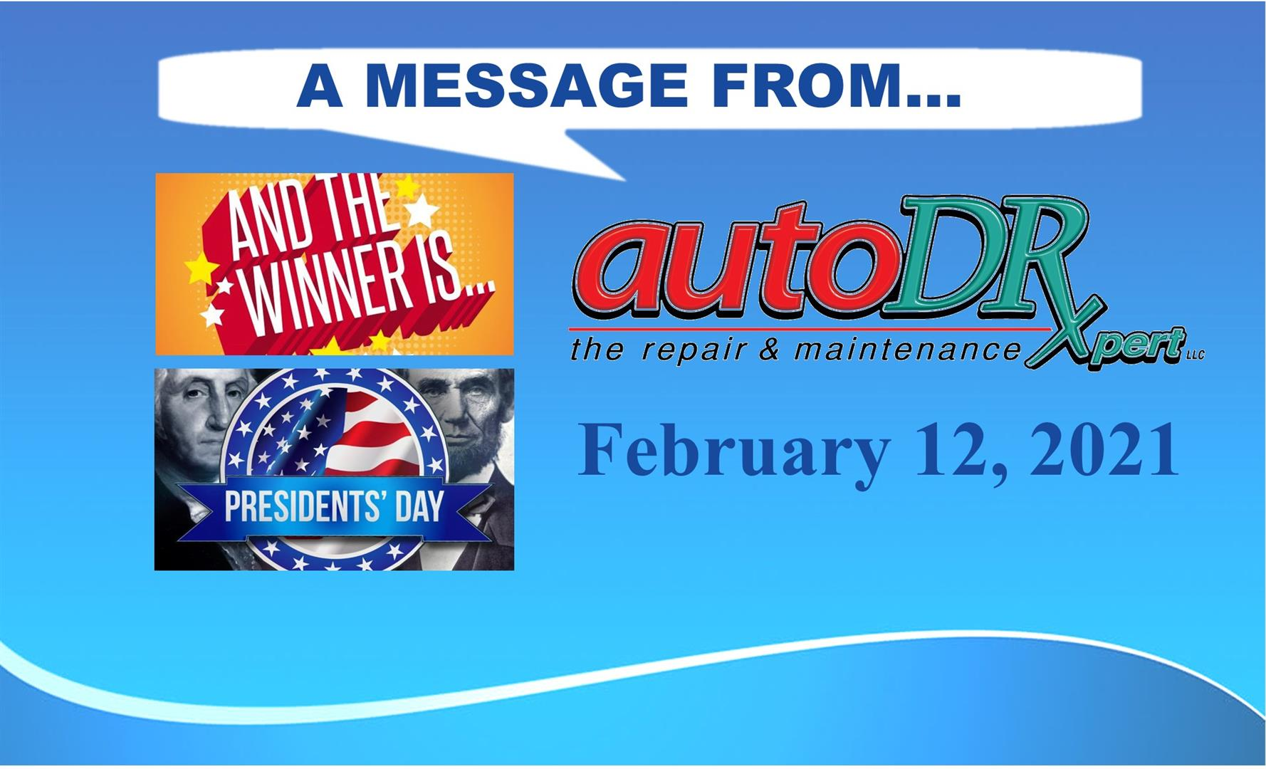 A Message from Auto DR - 2-12-2021